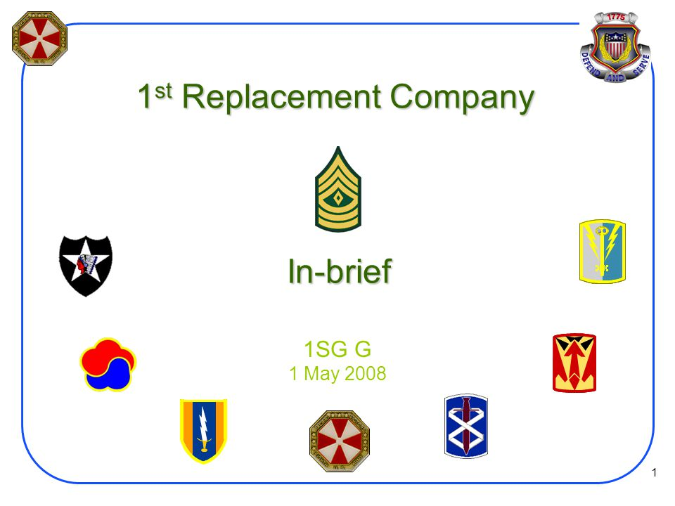 1st Replacement Company In-brief