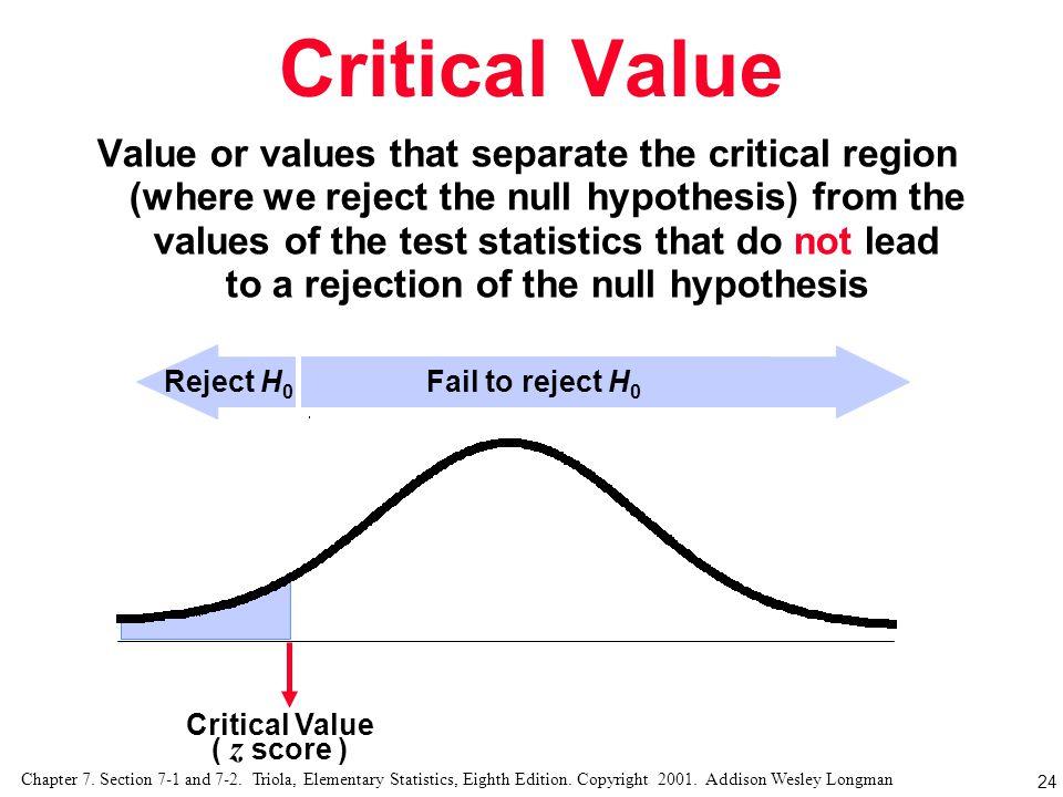 Critical Value