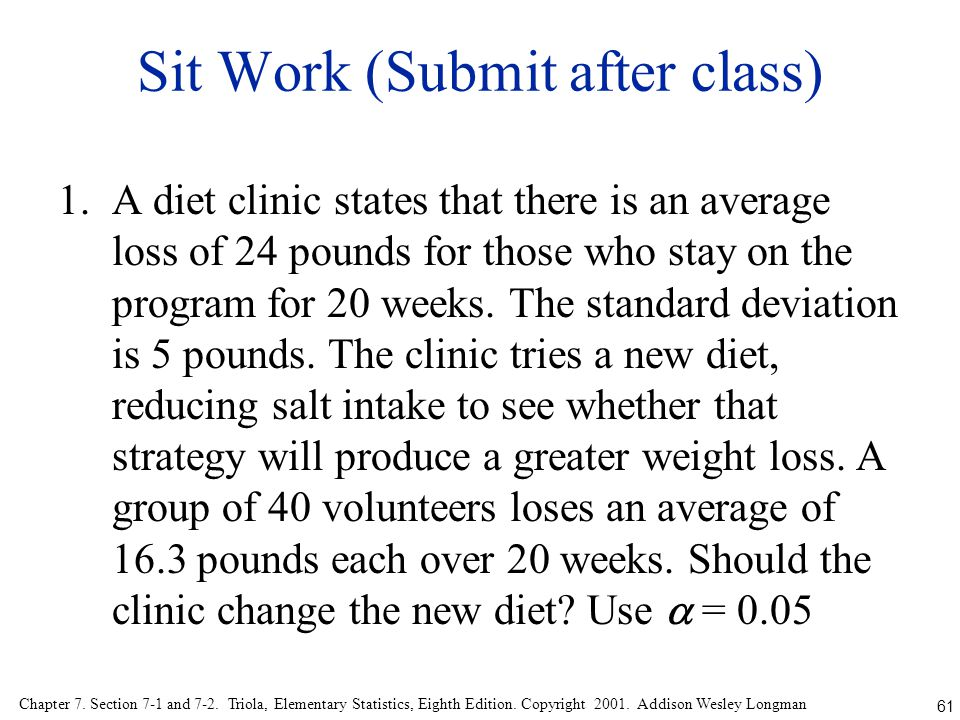 Sit Work (Submit after class)