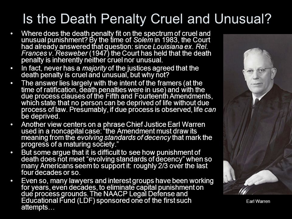 Is the Death Penalty Cruel and Unusual