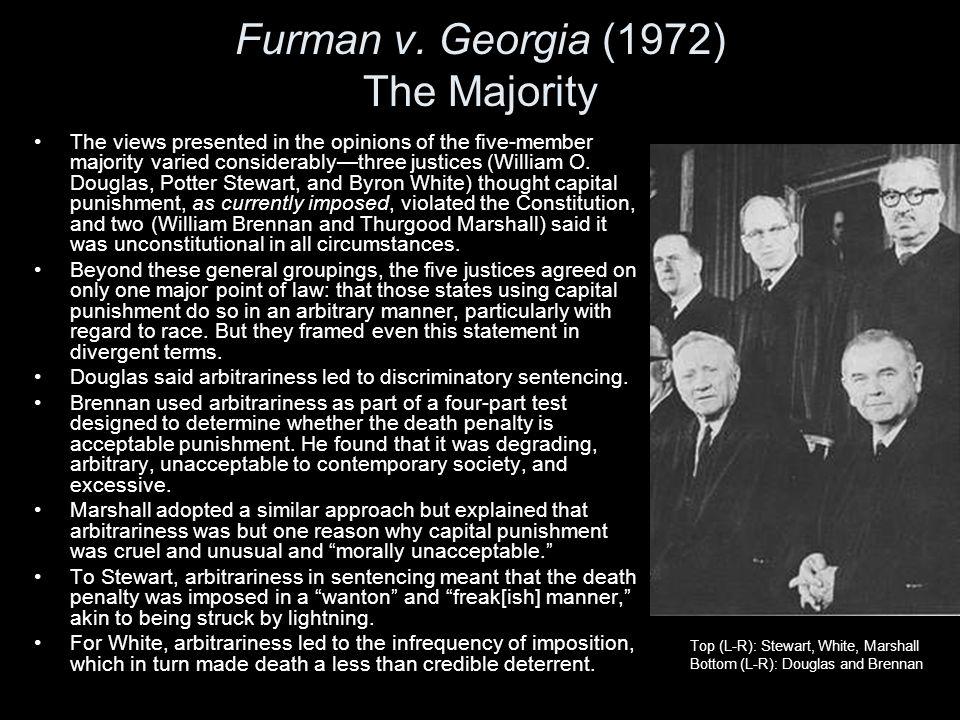 Furman v. Georgia (1972) The Majority
