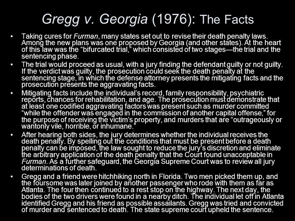 Gregg v. Georgia (1976): The Facts