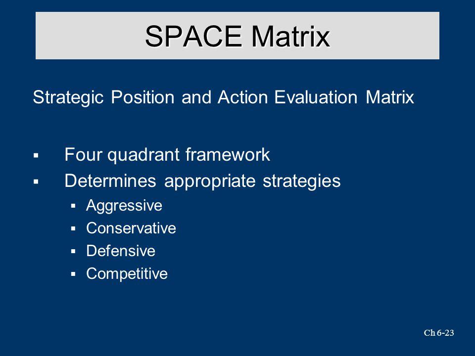 SPACE Matrix Strategic Position and Action Evaluation Matrix