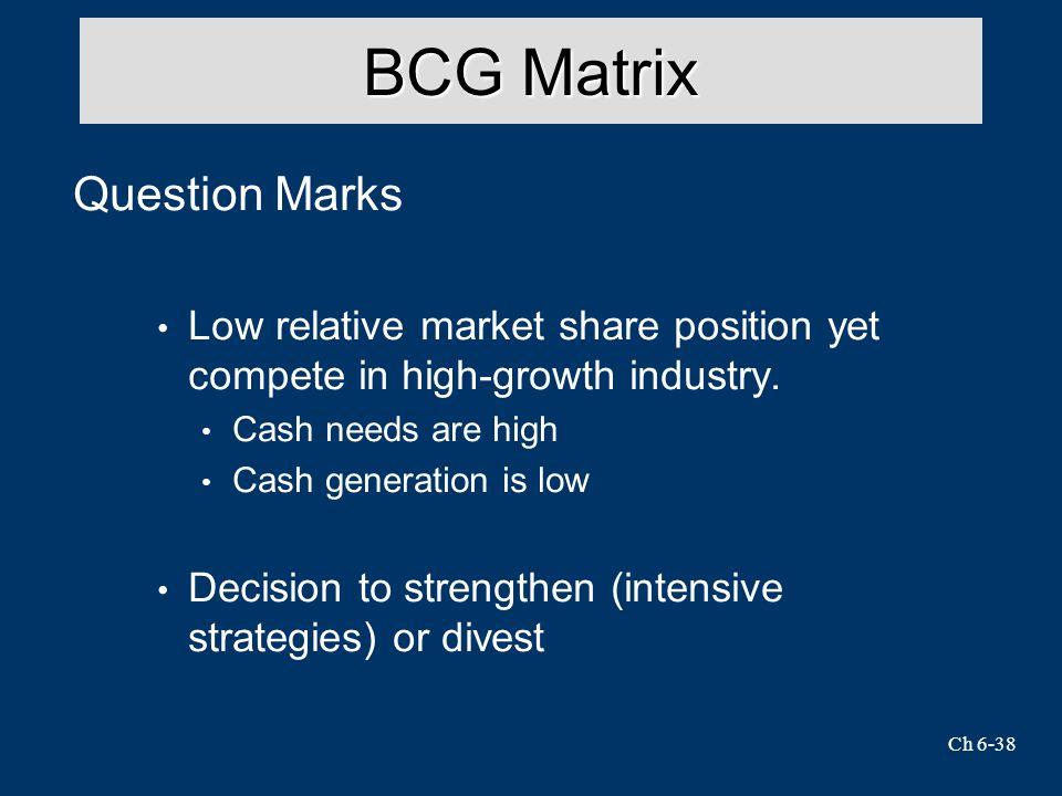 BCG Matrix Question Marks
