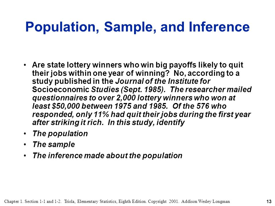 Population, Sample, and Inference