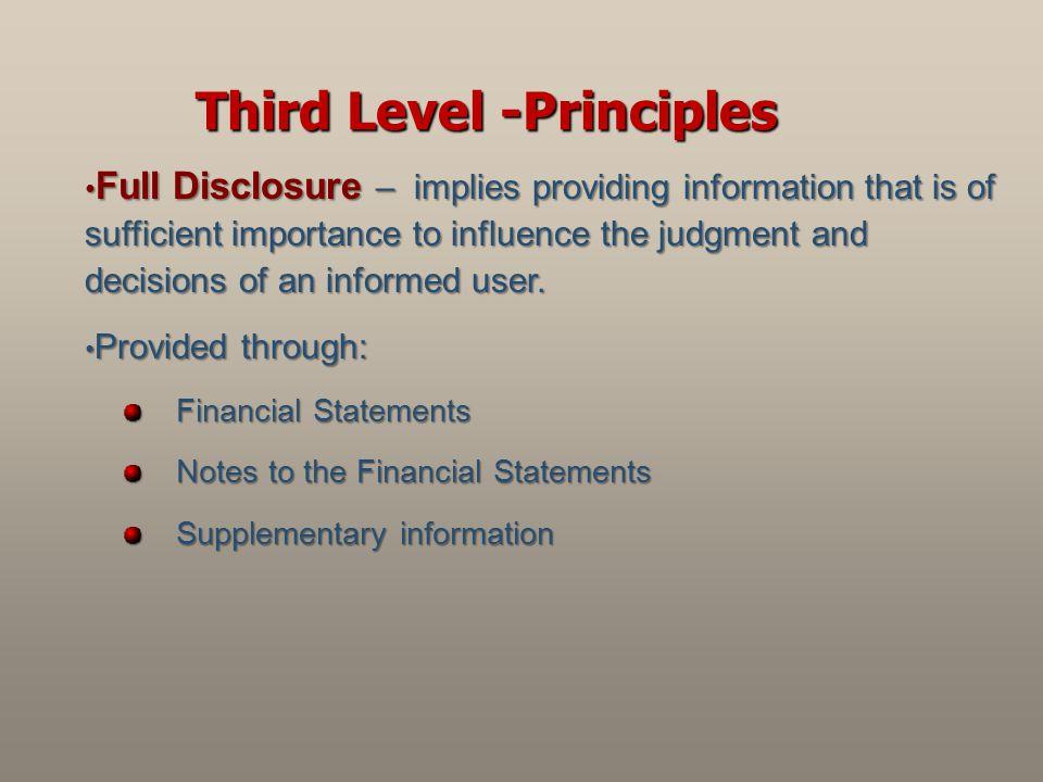 Third Level -Principles