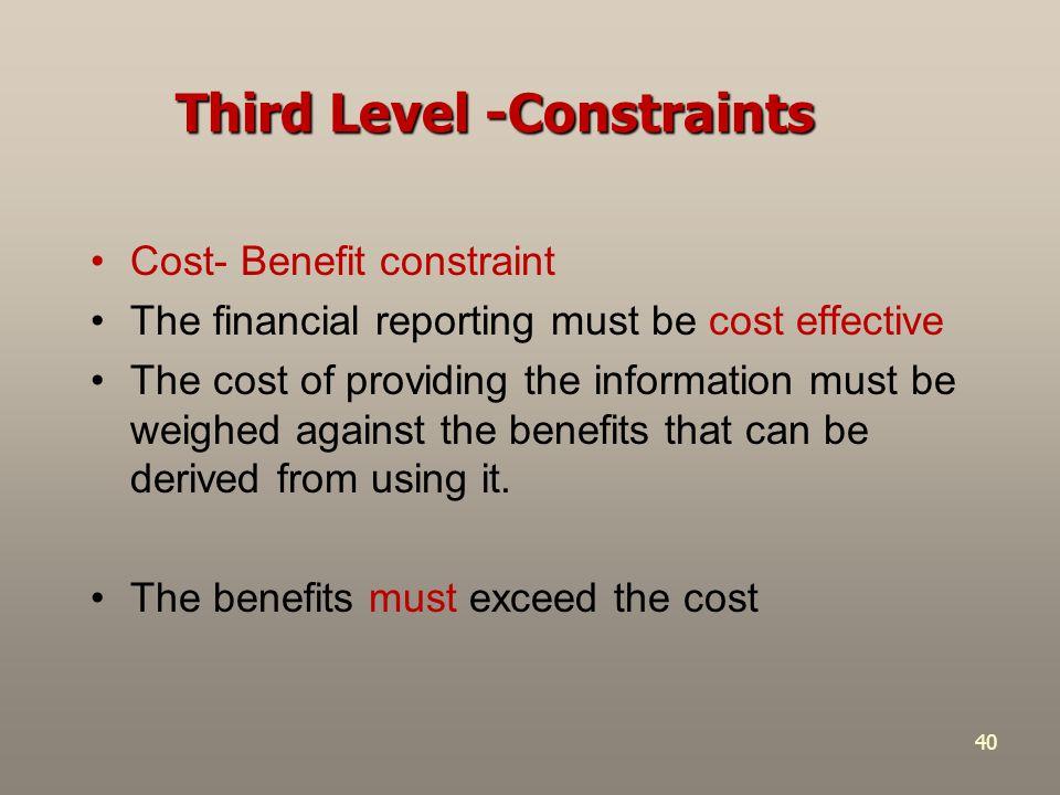 Third Level -Constraints