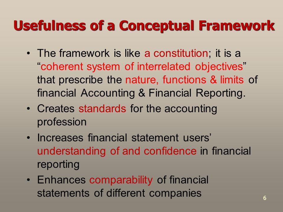 Usefulness of a Conceptual Framework