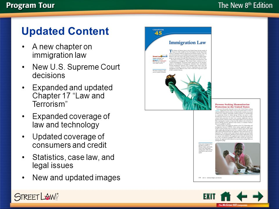 Updated Content A new chapter on immigration law