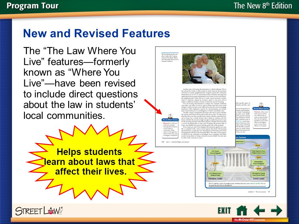 Helps students learn about laws that affect their lives.