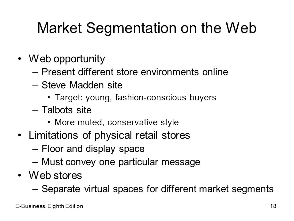 Market Segmentation on the Web