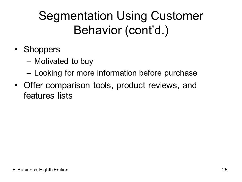 Segmentation Using Customer Behavior (cont'd.)
