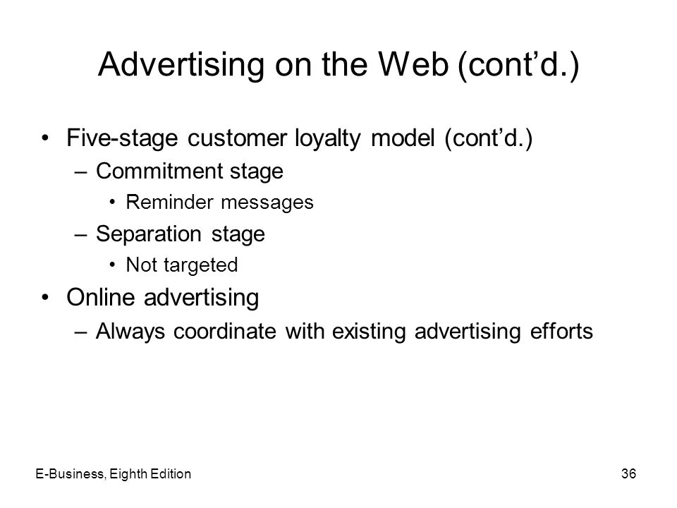 Advertising on the Web (cont'd.)
