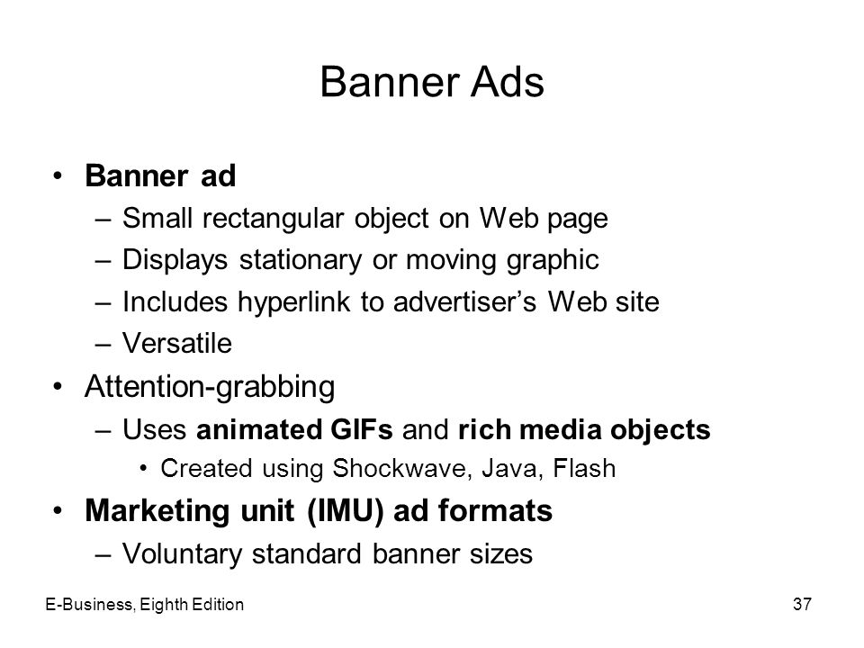 Banner Ads Banner ad Attention-grabbing