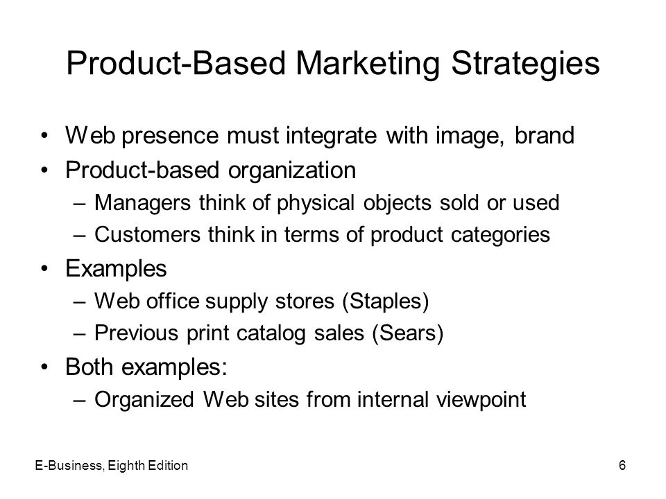 Product-Based Marketing Strategies