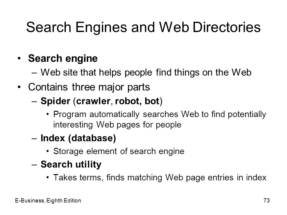 Search Engines and Web Directories