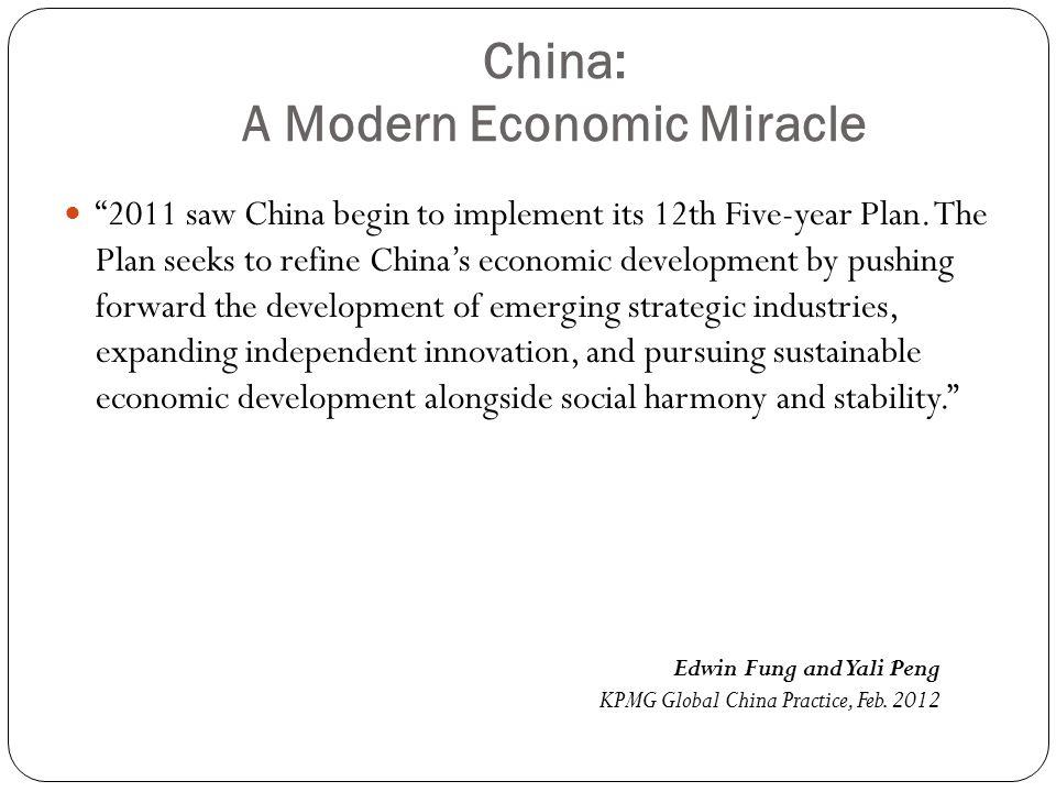 China: A Modern Economic Miracle
