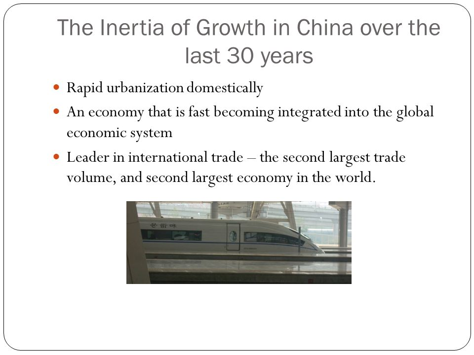 The Inertia of Growth in China over the last 30 years
