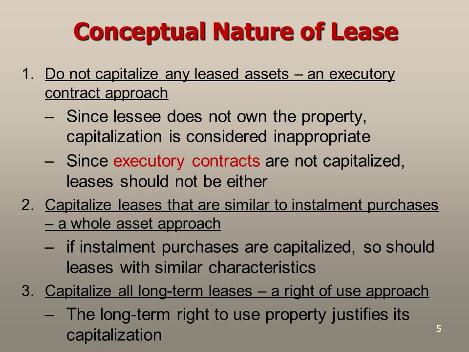 Conceptual Nature of Lease