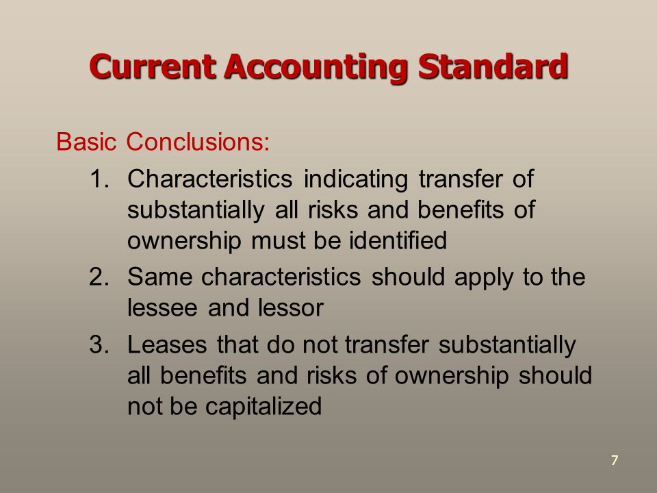 Current Accounting Standard