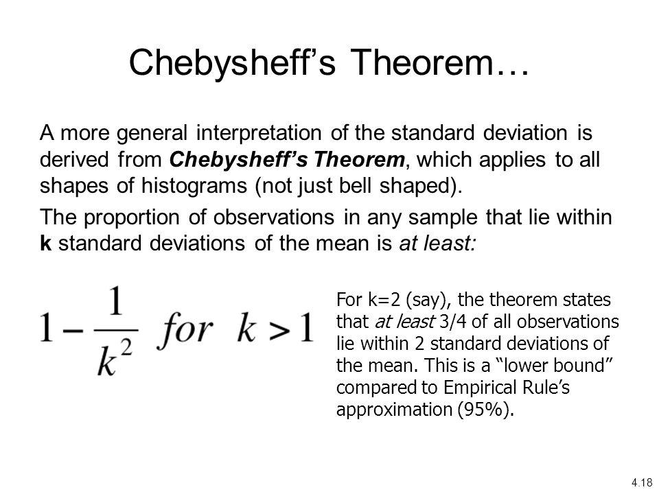 Chebysheff's Theorem…