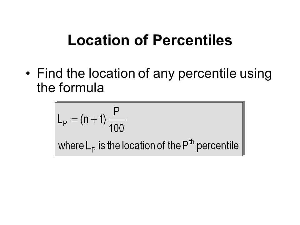 Location of Percentiles