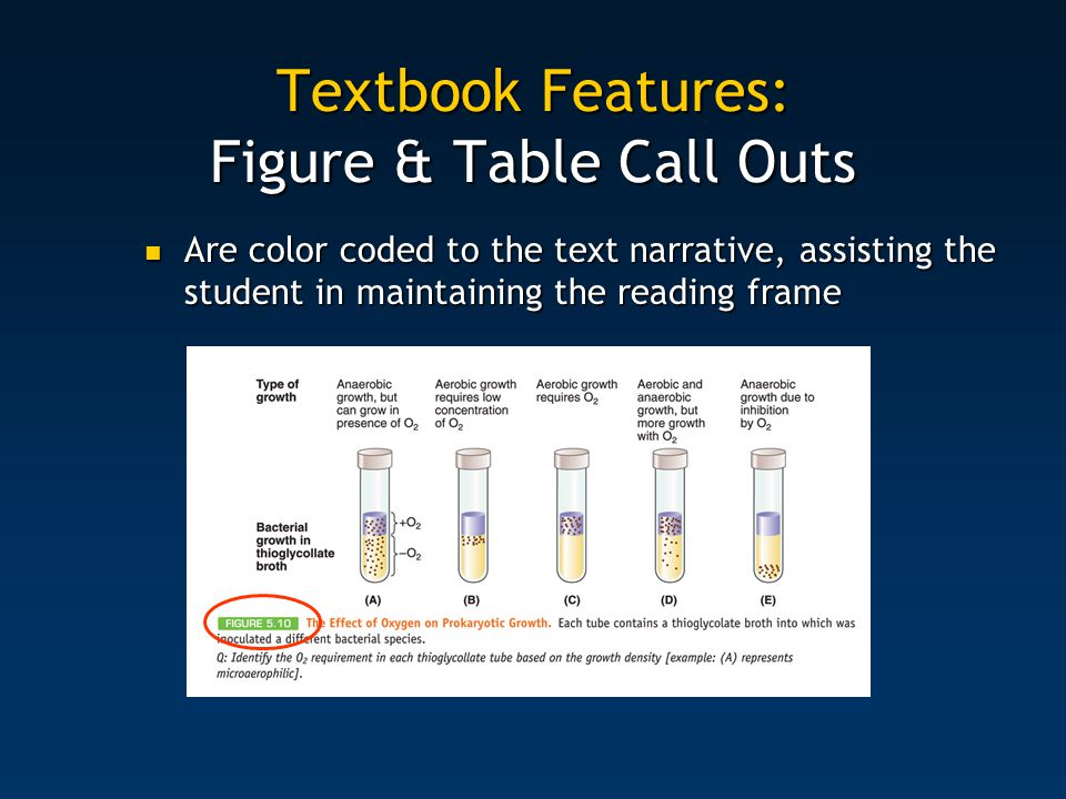 Textbook Features: Figure & Table Call Outs