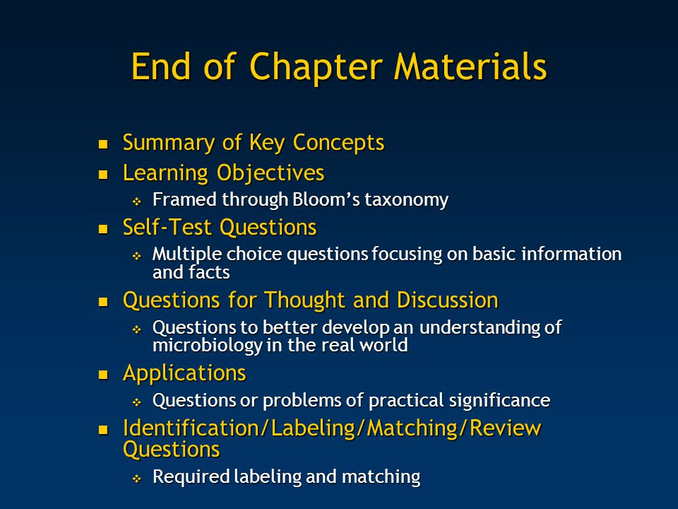 End of Chapter Materials