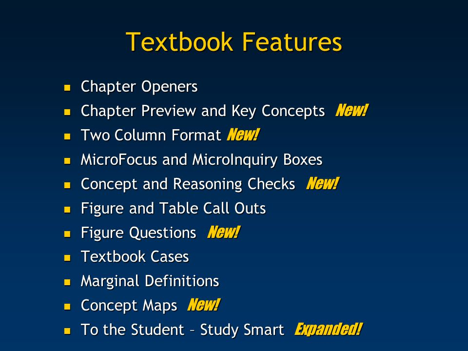 Textbook Features Chapter Openers