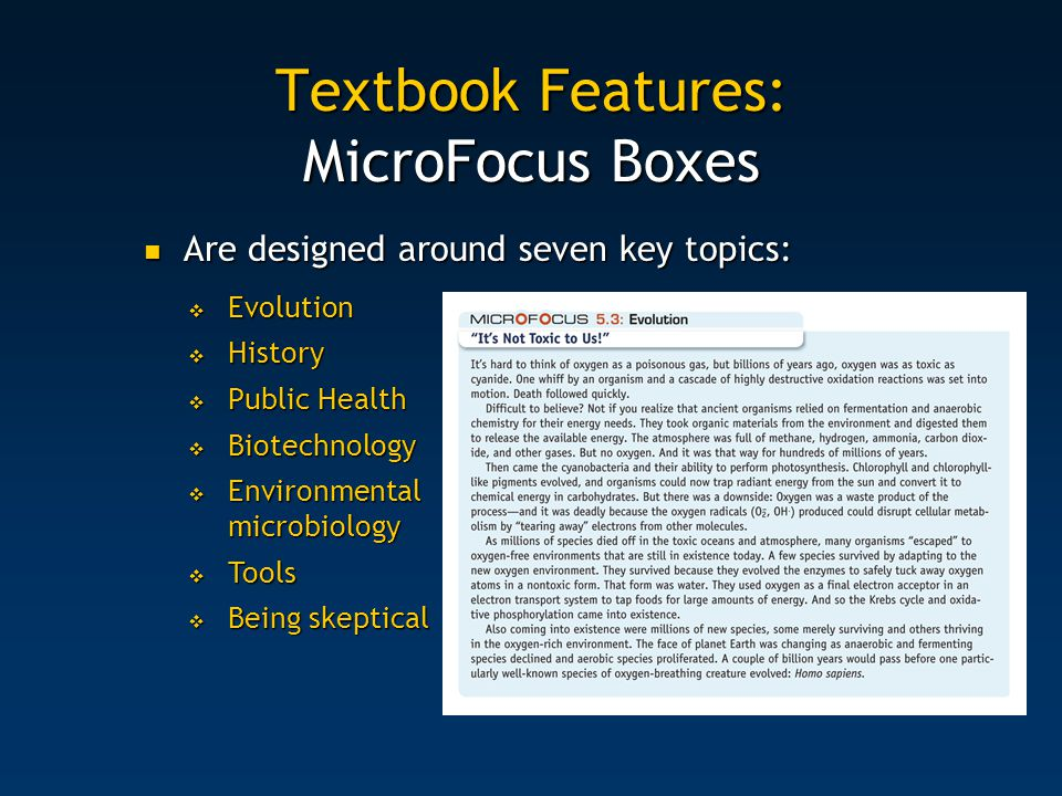 Textbook Features: MicroFocus Boxes