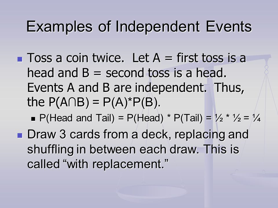 Examples of Independent Events
