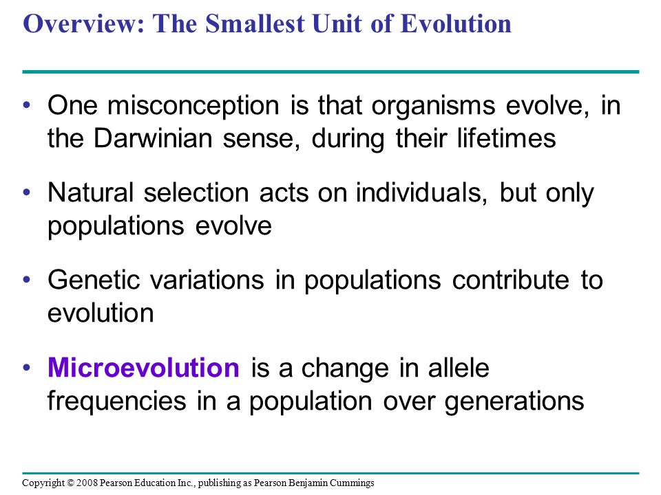 Overview: The Smallest Unit of Evolution