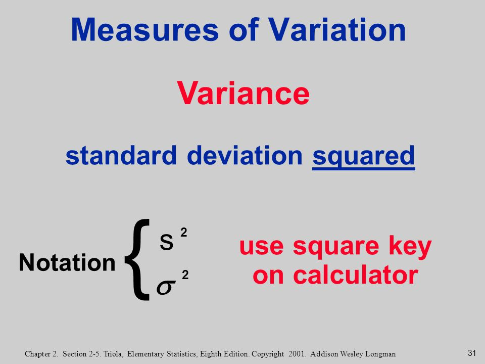 standard deviation squared