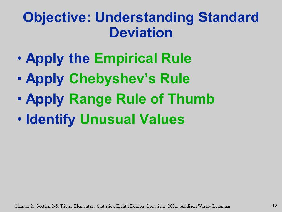 Objective: Understanding Standard Deviation