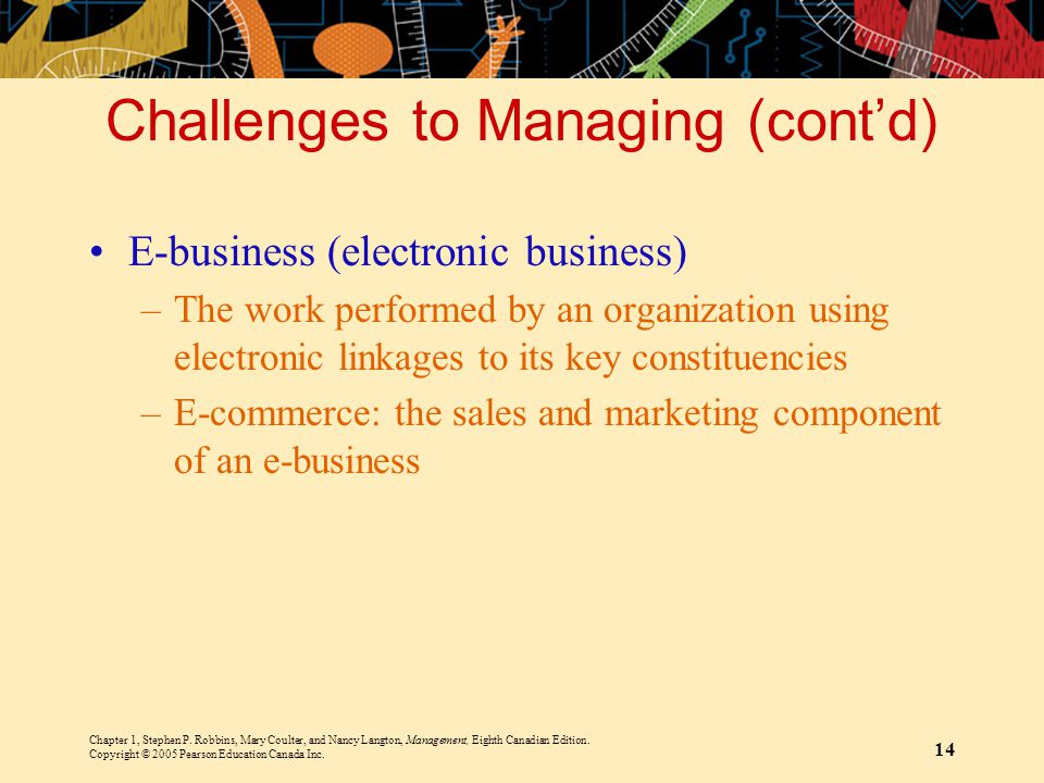 Challenges to Managing (cont'd)
