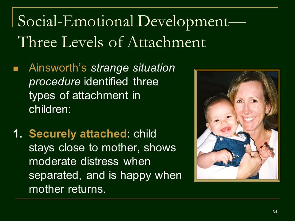 Social-Emotional Development—Three Levels of Attachment