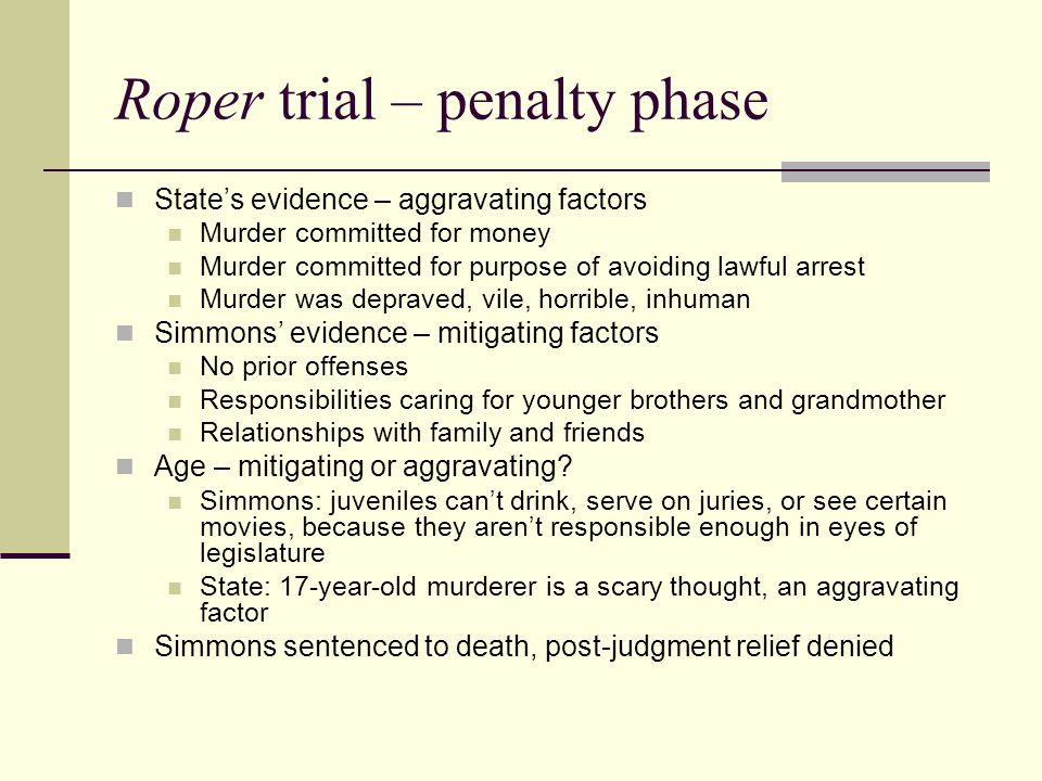 Roper trial – penalty phase