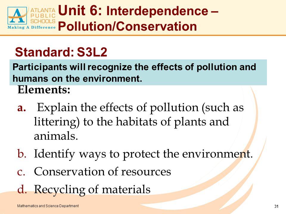 Unit 6: Enduring Understandings