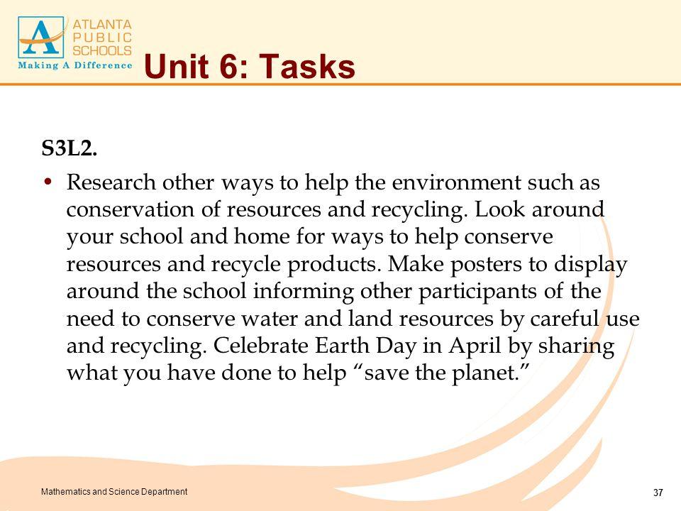 Unit 6: Tasks S3L2.