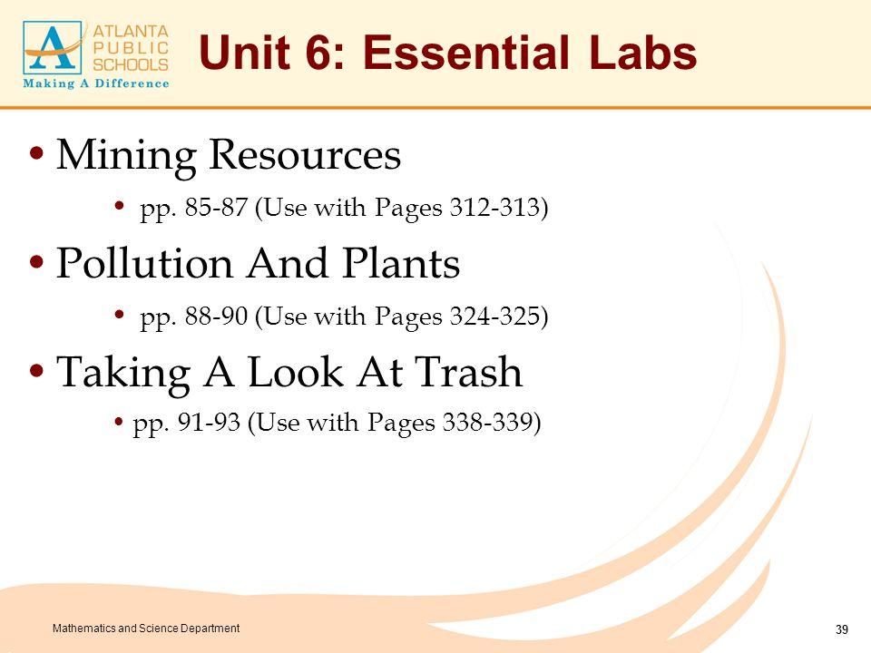 Unit 6: Culminating Task