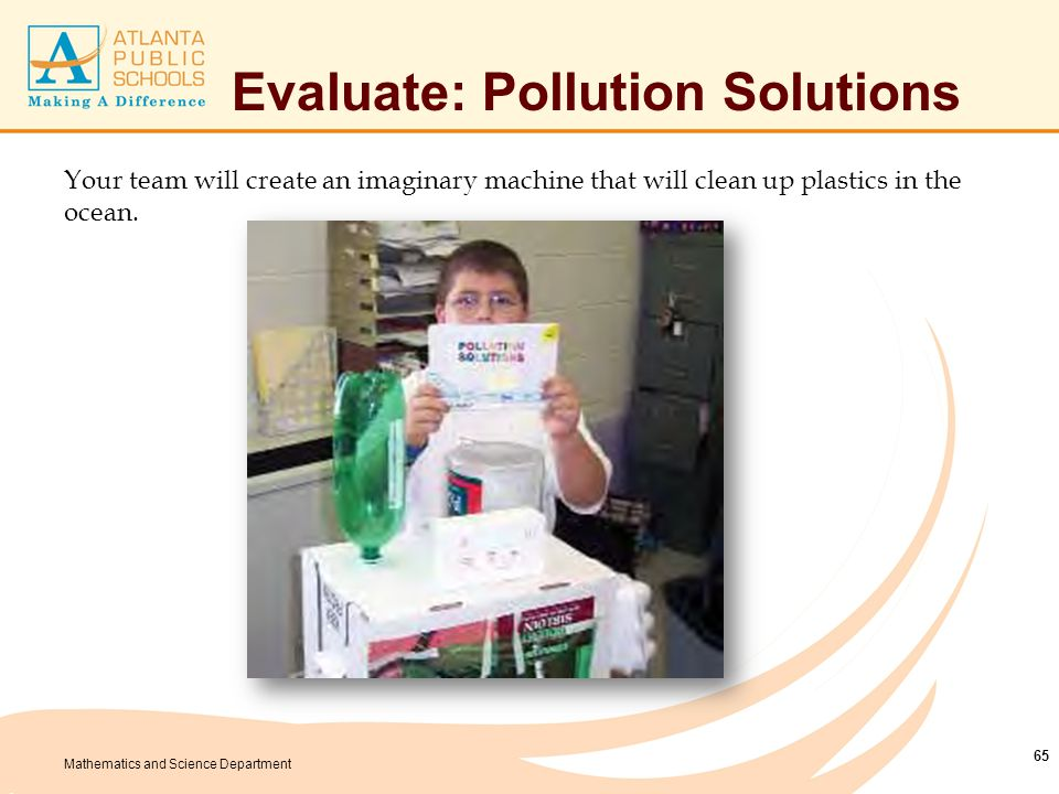 Evaluate: Pollution Solution