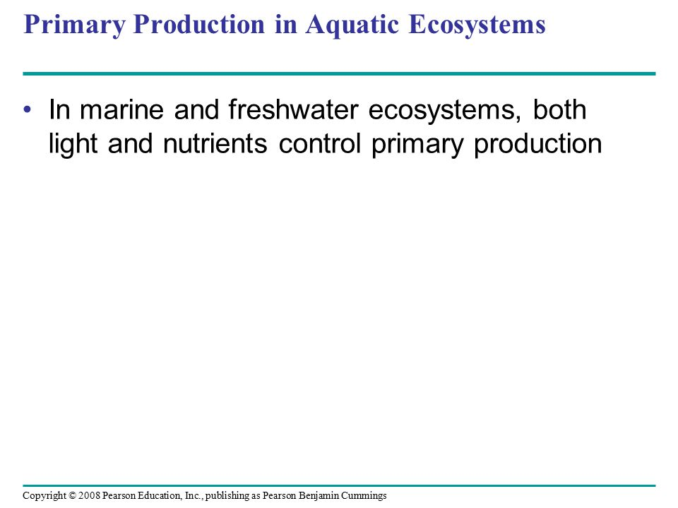 Primary Production in Aquatic Ecosystems