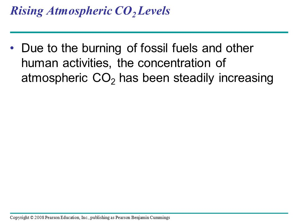 Rising Atmospheric CO2 Levels