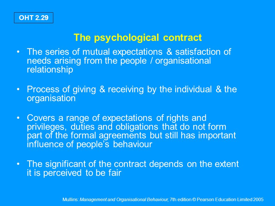 Formula for balancing unwritten needs of employees with the needs of the organisation