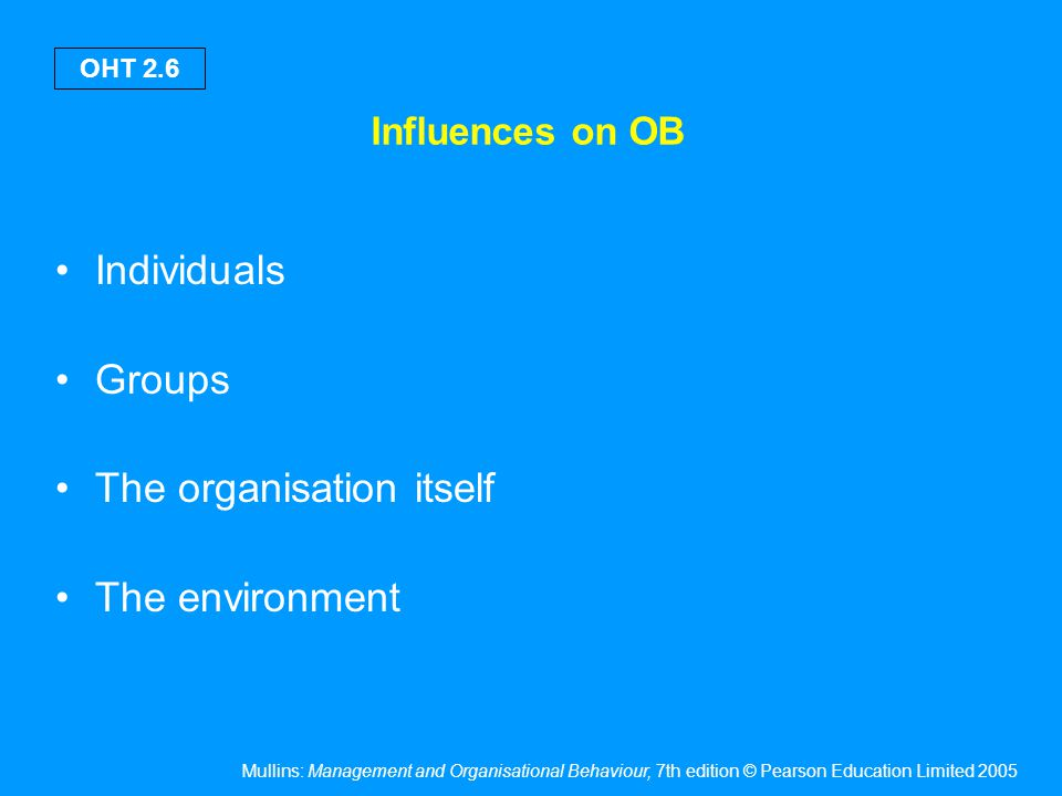 Are a central feature of OB