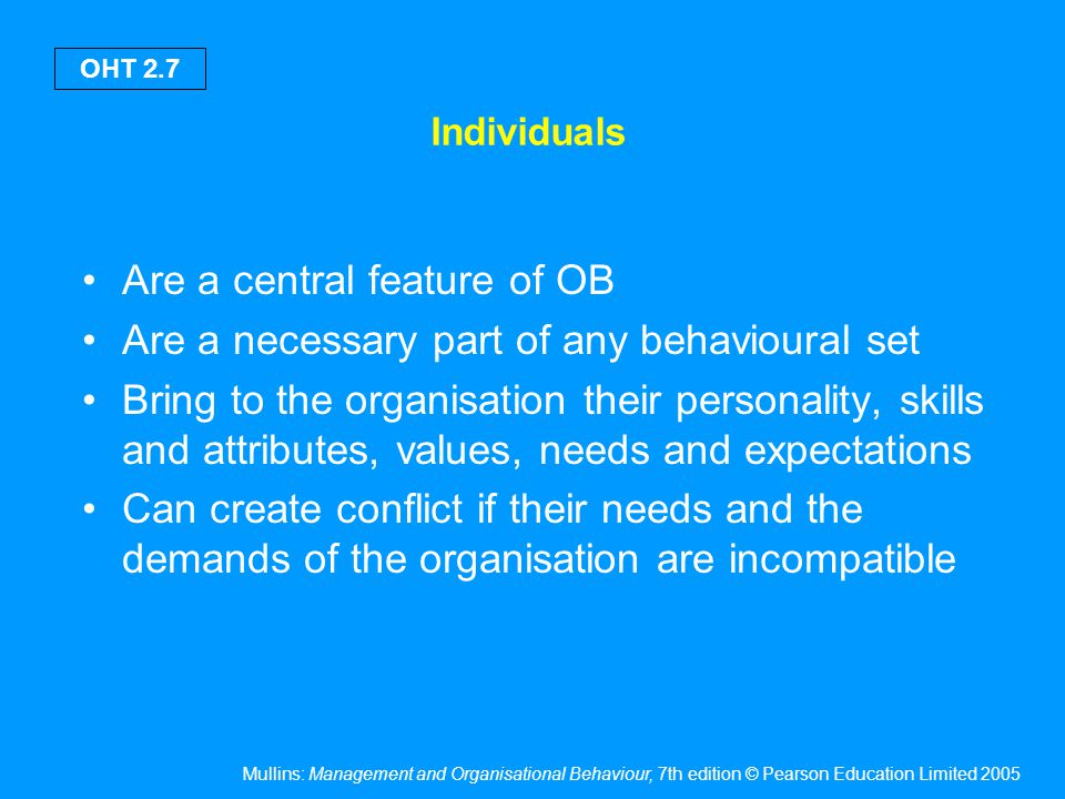 Management and the individual