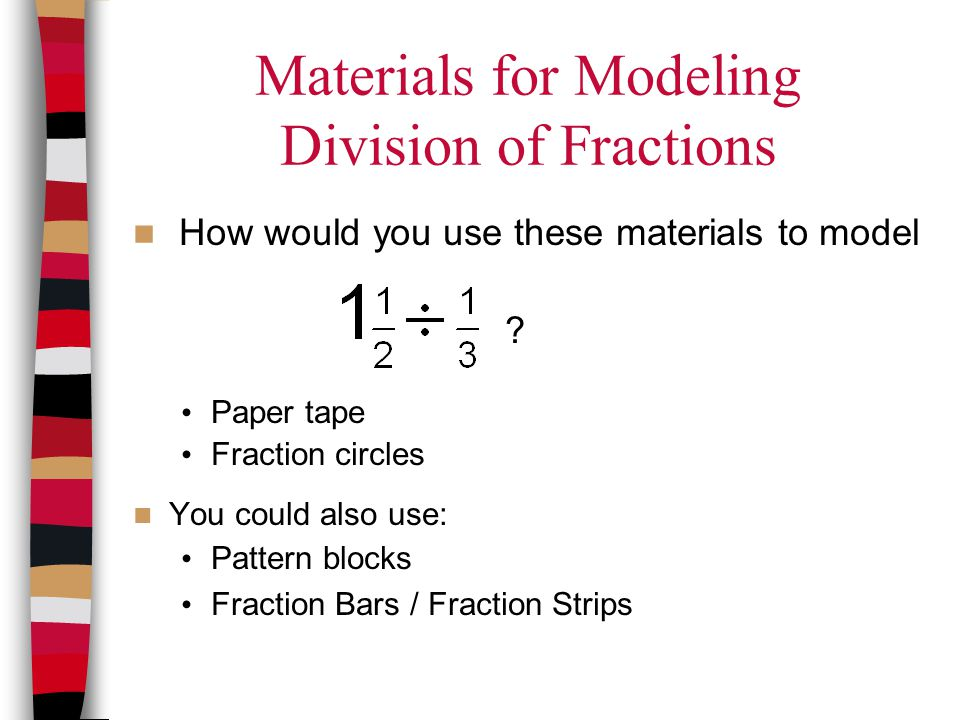 Materials for Modeling Division of Fractions
