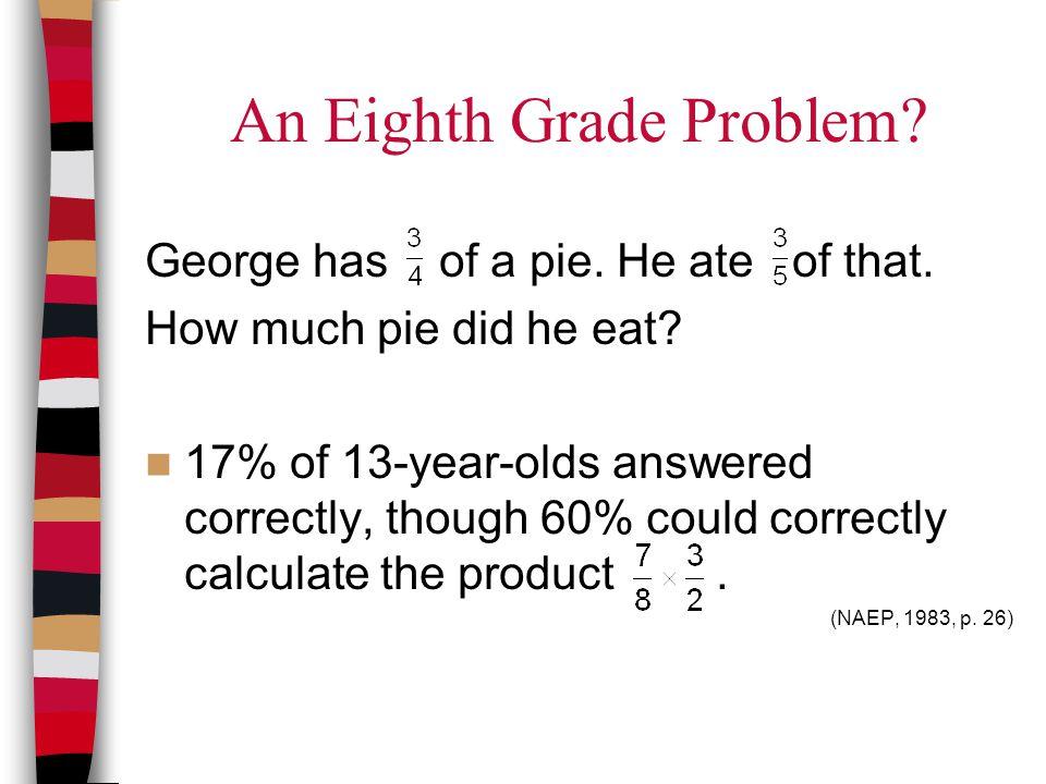 An Eighth Grade Problem