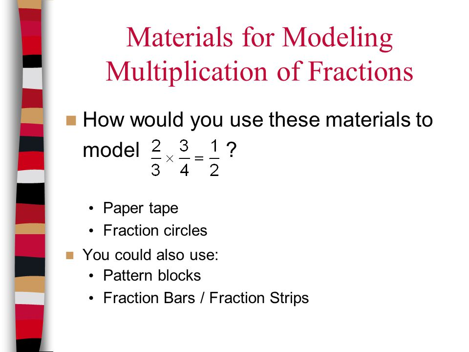 Materials for Modeling Multiplication of Fractions