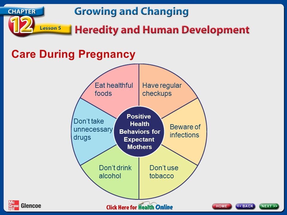 Positive Health Behaviors for Expectant Mothers